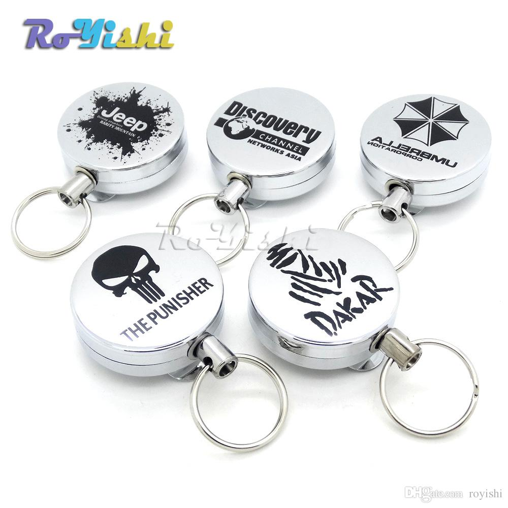 Recoil Extendable Metal Wire 60cm Key Chain Ring Clip Pull Keyring  Retracting Keychain Breathalyzer Custom Keychain From Royishi 7482f34583d3