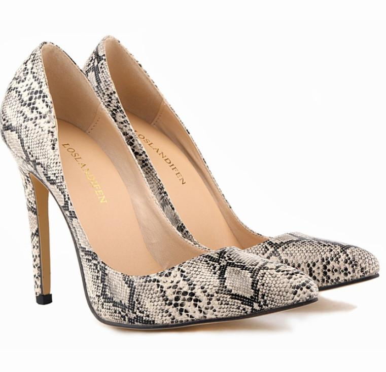 Womens high heel shoes 2017 Toe Thin Snake Printing Fashion Luxury pumps Party wedding shoes shoe005