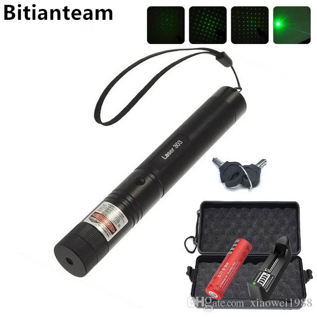 Professional Powerful 303 Green Laser Pointer Pen Laser Light With 18650 Battery,Retail Box Focus Burning Wood Matchs