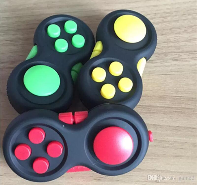 2017 NEW Game Handle Fidget Cube Anti Stress Gift Hand Puzzles & Magic Pad Finger Toys Decompression Spinner Controller With Package