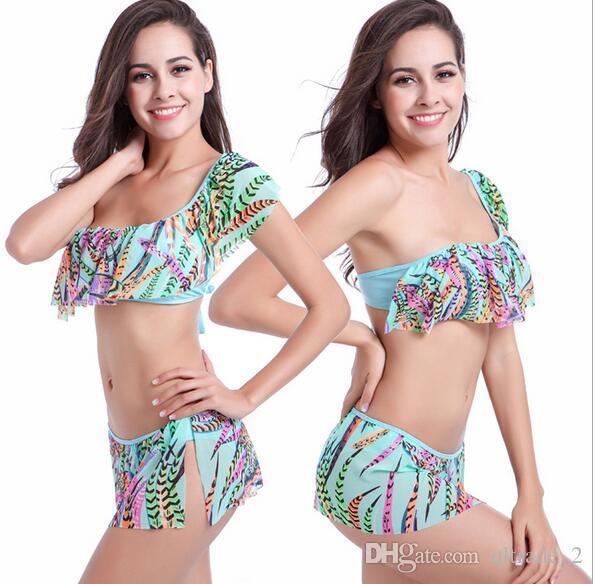 DM063 Costumi da bagno bikini sexy dal design unico con balza e costumi da bagno di lusso, confortevoli e traspiranti