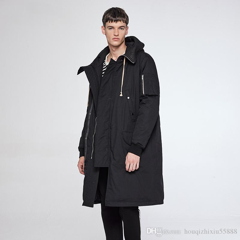 Winter Long Jacket Men Hood Oversized Hight Quality Jaqueta ...
