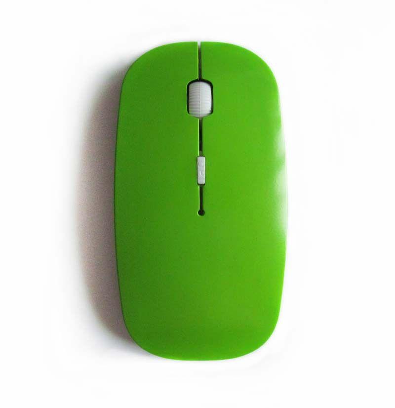 Mini souris optique sans fil mince 1000DPI 6 couleurs pour ordinateur portable macbook windows 7 xp vista