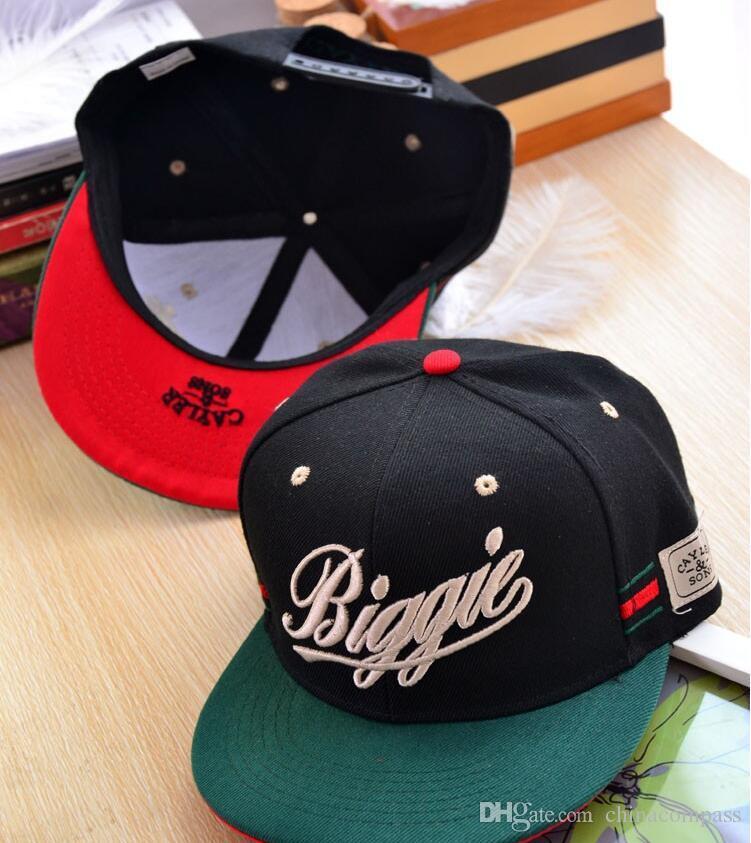 Neue Ankunft Snapback Hut BIGGIE Knochen Snap Zurück Männer Hip Hop Cap Sport Baseball Mode Flat-Krempe