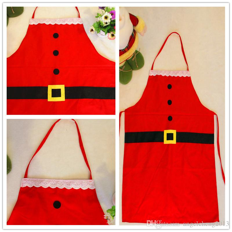 Fashion Christmas Chef Apron, Perfect Hostess Gift & Stocking Stuffer, Mrs. Claus Kitchen, Baking & Crafting Apron for the Holidays Decorat