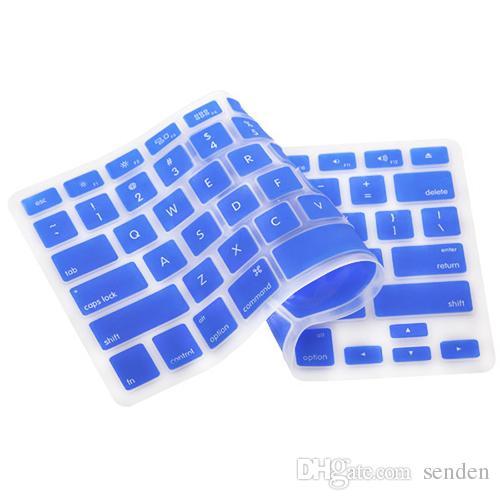 freie Verschiffen Großhandels-Bunte Silikon-Tastatur-Abdeckungs-Schutz-Haut für US-Apple Macbook Pro MAC 13 15 17 Air 13 Laptop 4WGB