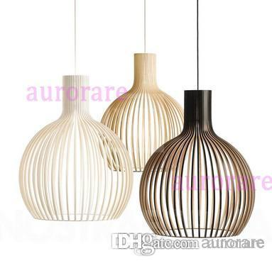 Exceptional Discount New Modern Design Pendant Lamp Nordic Cage Light Fixture  Suspension Lighting Ceiling Lamps Black White Color Diameter 25cm 29cm 38cm  Fixture ...