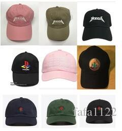 d1773068e4c Yeezus Embroidered Glastonbury Unstructured Dad Cap Yeezu Boost 350 ...