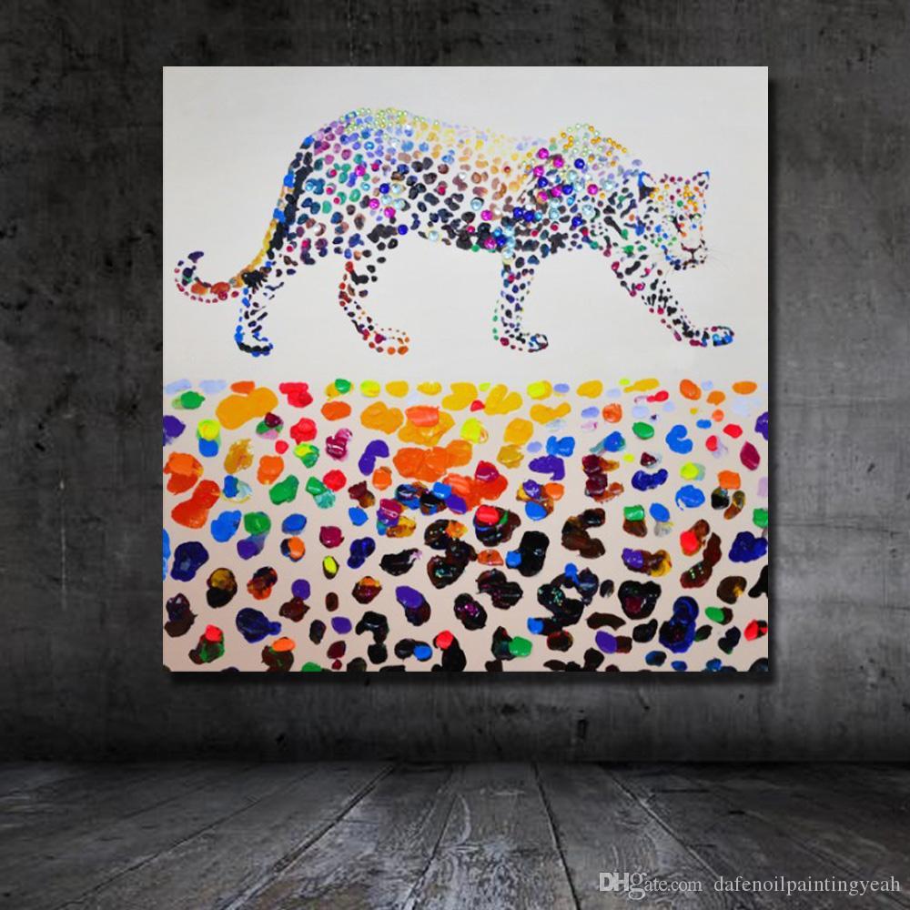 Dipinto leopardo su tela Decorazioni la casa Immagini delle pareti del soggiorno Pitture a olio fatte a mano Immagini delle pareti domestiche Non incorniciate