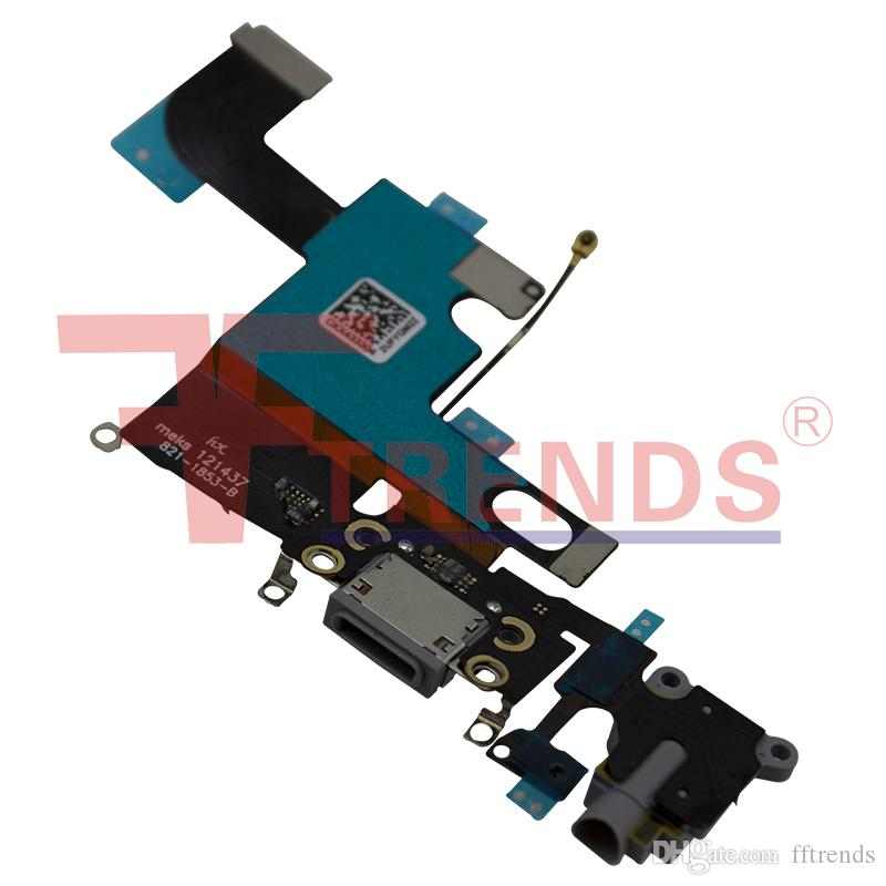High Quality A for iPhone 6 Dock Connector Charging Port Flex Cable Headphone Audio Jack Replacement Repair Parts 100% Tested High Quality