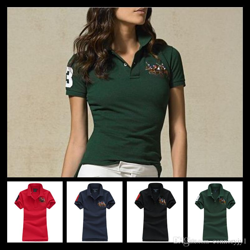2019 Shirt Down Turn Short Sleeve Women Polo Fmasuth WCBerdxo