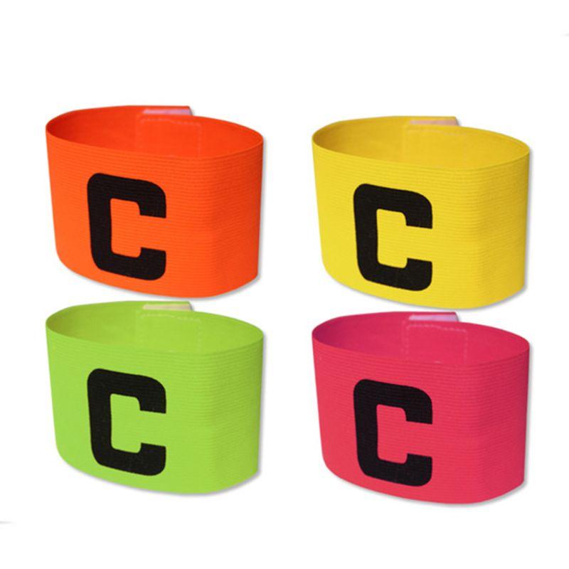 Fußball Basketball Fußball Sport C Wörter flexibel einstellbar Spielerbänder Abzeichen Captain Armband Zubehör 4 Farbe 2503059