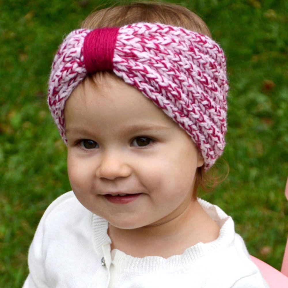 Compre Niñas Bebés Knit Headbands Toddler Knotted Crochet Hairbands ...