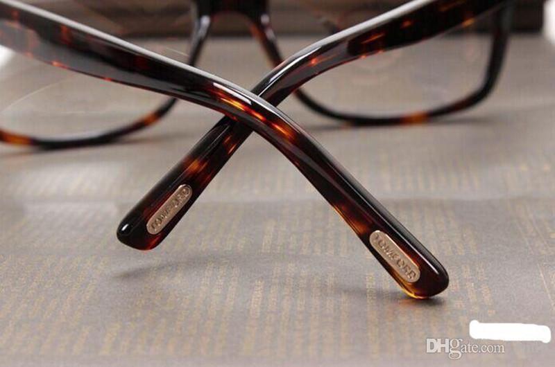 Erkekler Optik Gözlük Çerçevesi Tom 5176 Marka Tasarımcısı Kadınlar için Büyük Çerçeve Gözlük Çerçeveleri Retro Miyopi Gözlük Çerçeveleri ile ...