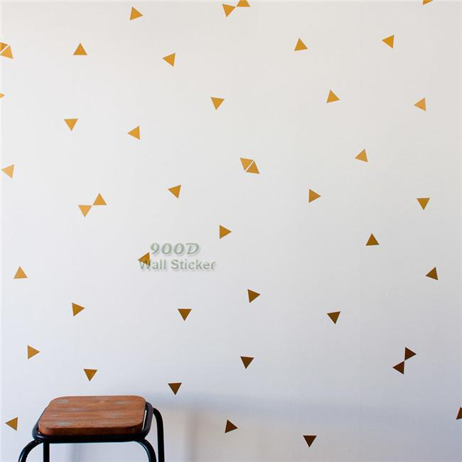 gold triangle wall sticker ,removable home decoration art wall