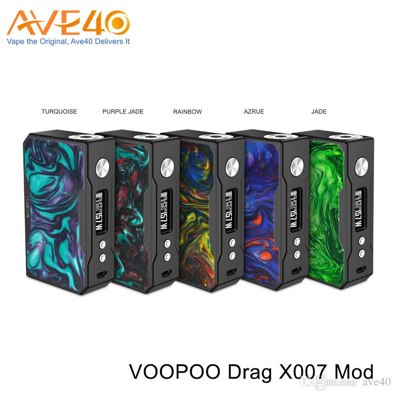 VOOPOO DRAG 157W TC box mod Resin Black Frame Version 100% Original Power By Dual 18650 Cell fit Voopoo Demon