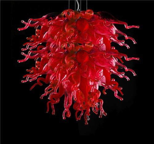 LR1082-frete grátis Energy Saving Murano Vidro alta chandelier Pure Red Murano Glass Art Lustres Teto lâmpada Made in China