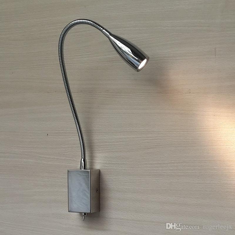 TopocH Testiera con luci Chrome braccio flessibile Ra 85 200LM 3W CREE LED AC100-240V DC12-24V driver incorporato fascio stretto la lettura