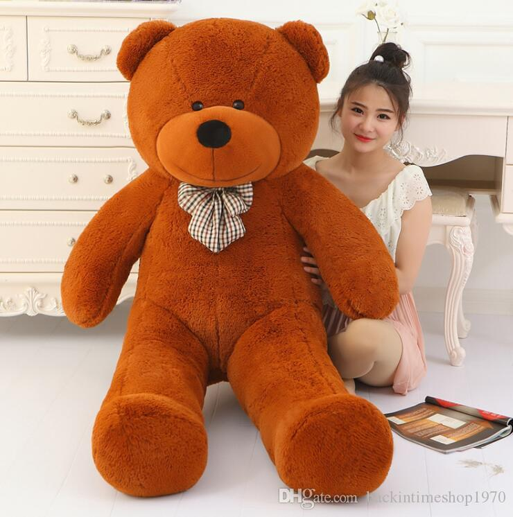 2bd658d47f8 2019 Big Sale Giant Teddy Bear 160cm 180cm 200cm Life Size Large Huge Big  Plush Stuffed Toy Dolls Girl Birthday Valentine Gift From  Backintimeshop1970