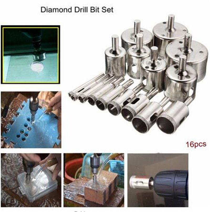 XNEMON 6mm-50mm Diamond Hole Saw Core Drill Bit Set Tile Ceramic Glass Porcelain Marble Woodworking Holesaw