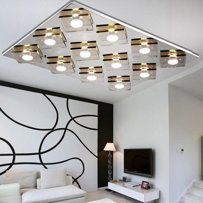 Rgb Color Crystal Chandelier Lighting Remove Control Ceiling Llight Fixtures Flush Mount Led L 36 X W 28 Lamp Pendant Drum Light