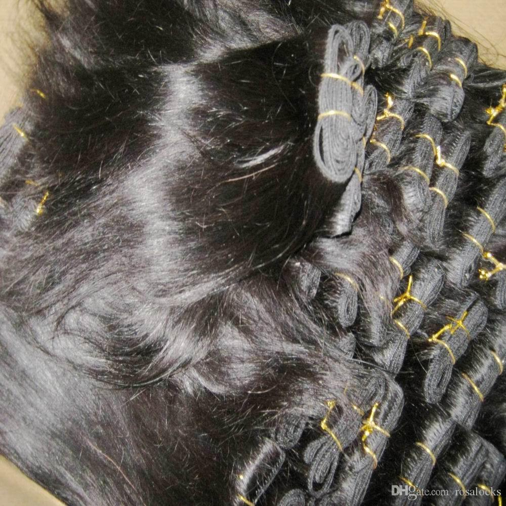 Paquete agradable / recta tramas del cabello humano peruano suave tramas paquetes baratos de armadura
