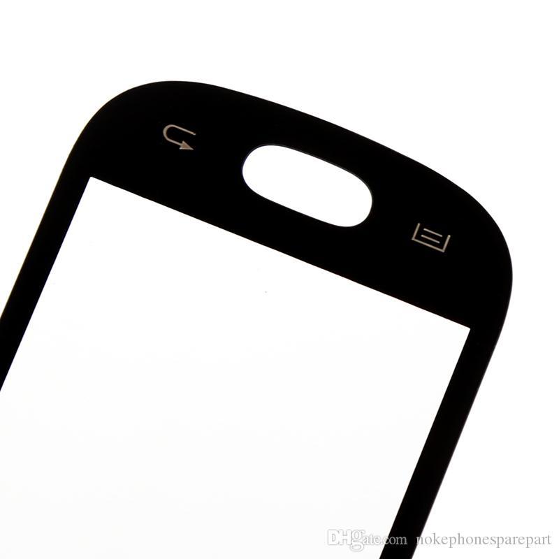 화이트 블랙 터치 스크린 디지타이저 터치 패널 유리 repalcement 부품 삼성 갤럭시 명성 S6810 DUOS 로고