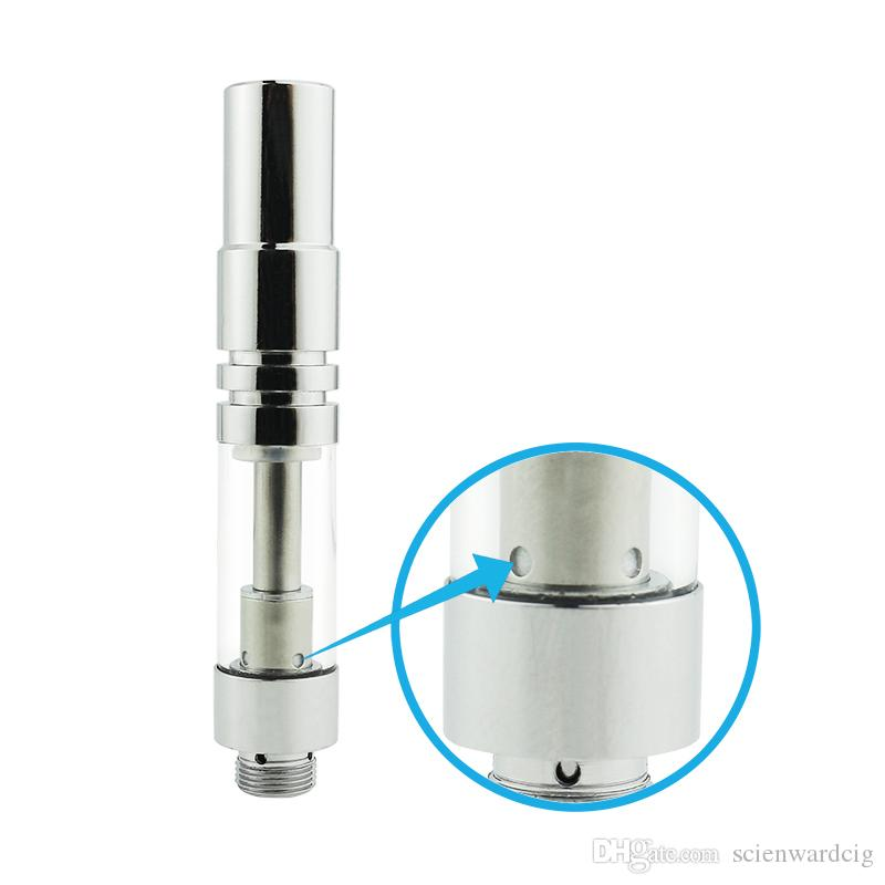 new ceramic coil glass vaporizer tank cartridge ceramic wickless glass cartridge thick oil atomizer empty vape pen cartridges