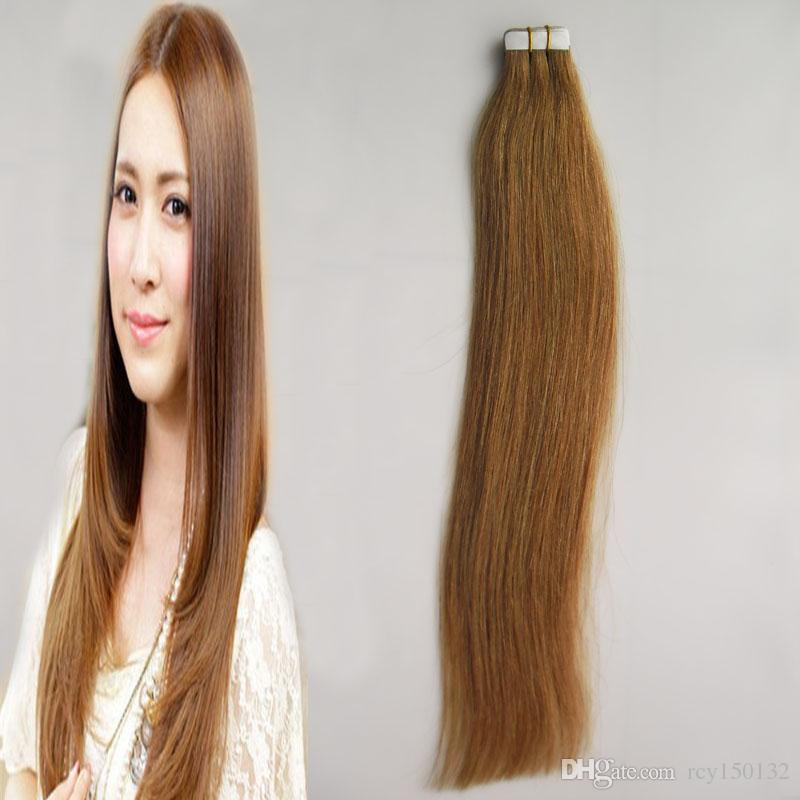 Tape In Human Hair Extensions Brazilian Hair Straight 30g 40g 50g