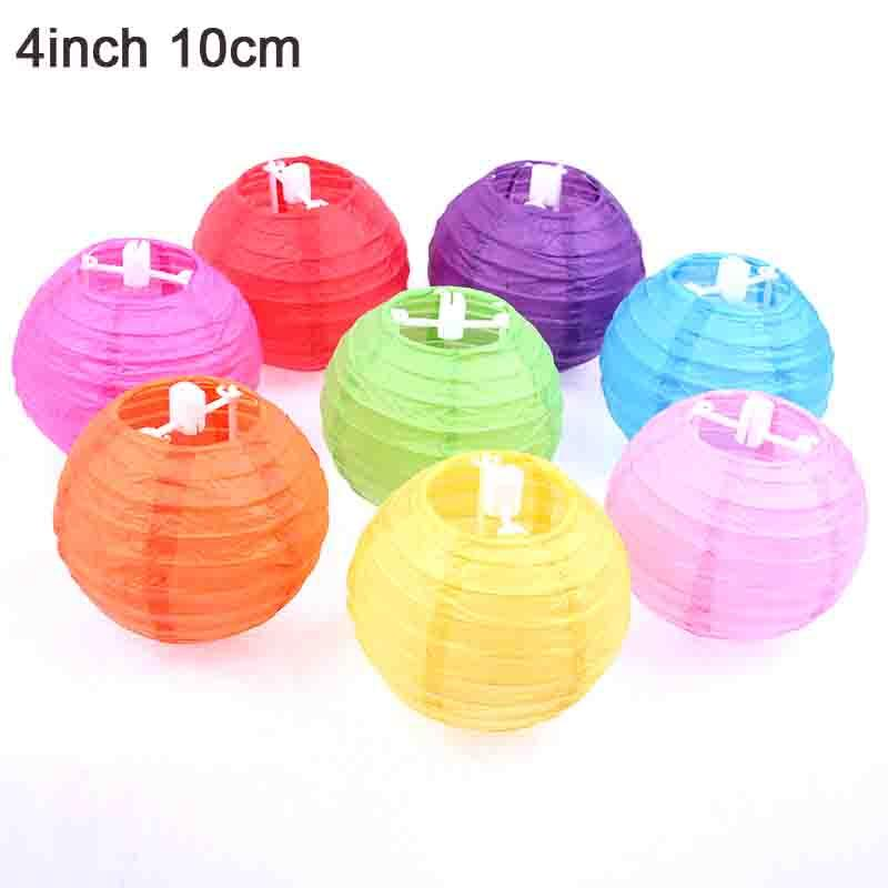 2018 4 10cm Chinese Handcrafts Paper Lanterns For Celebration Party Decoration Ball Diy Lantern Lampion Outdoor From Syylb 1709