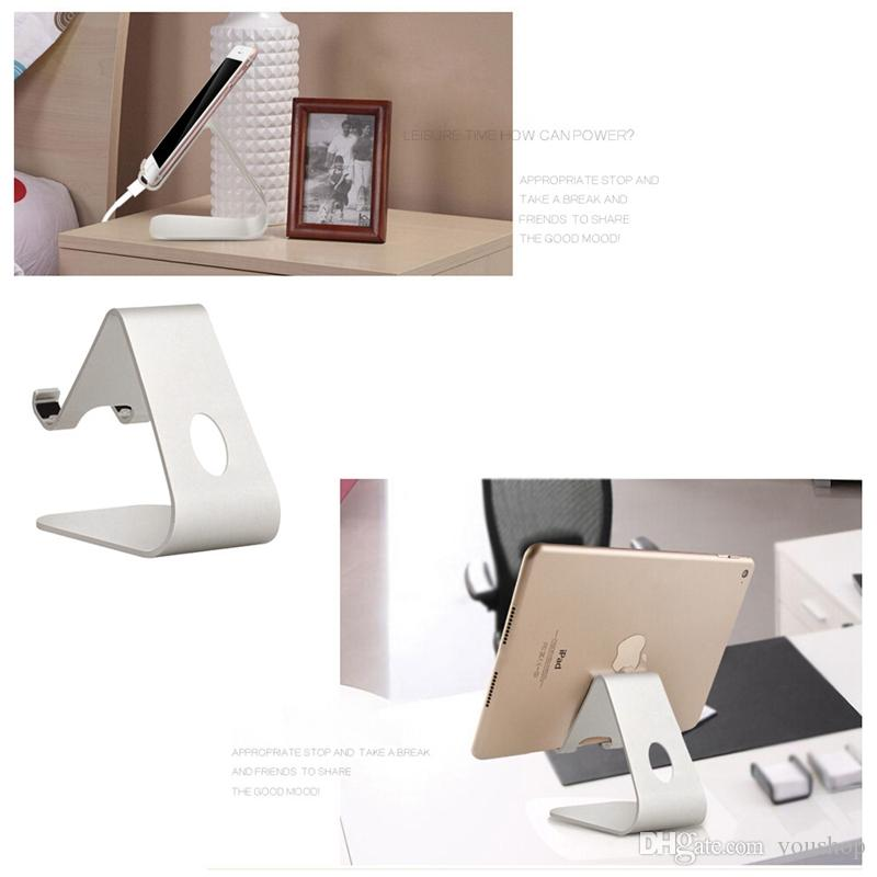 Aluminum Mobile Phone Stand Desktop Holder for Tablets E-readers for iPhone Smartphone for iPad mini 4