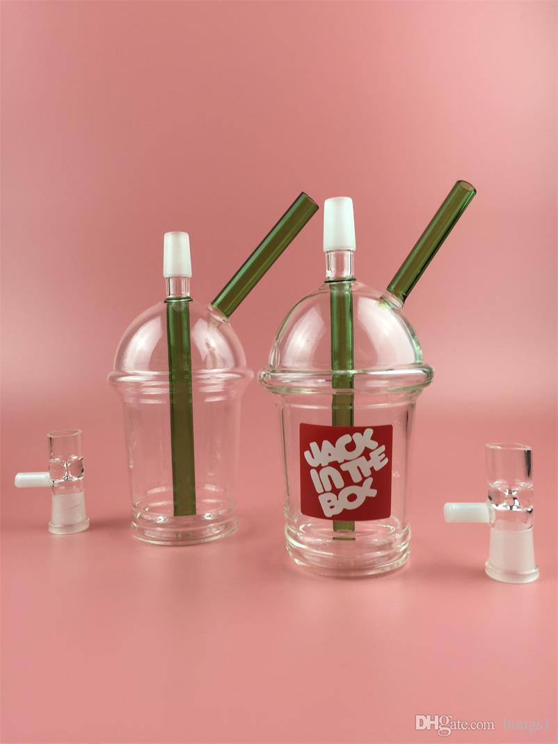 Cheap price Starbucks cup sandblasted glass bong water pipes hookah concentrate oil rig glass bong glass adapter Hookah