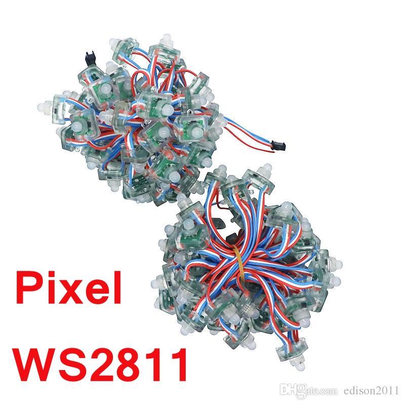 Edison2011 / DC5V 12V WS2811 RGB farbenreiches Quadrat zerstreute Pixel-Modul-Schnur IP68 Digital-LED wasserdichtes einzeln adressierbares