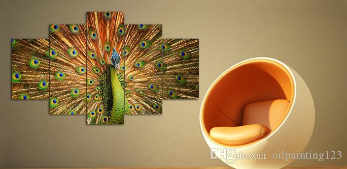 canvas art abstract Peacock oil painting canvas prints wall art home decoration print picture framed art F/338