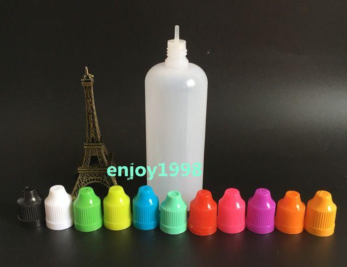 Самые дешевые оптом !!! E сок бутылки 120мл бутылки капельницы с восковыми крышками и LongTips E-жидкость бутылки Eye Dropper В наличии на продажу
