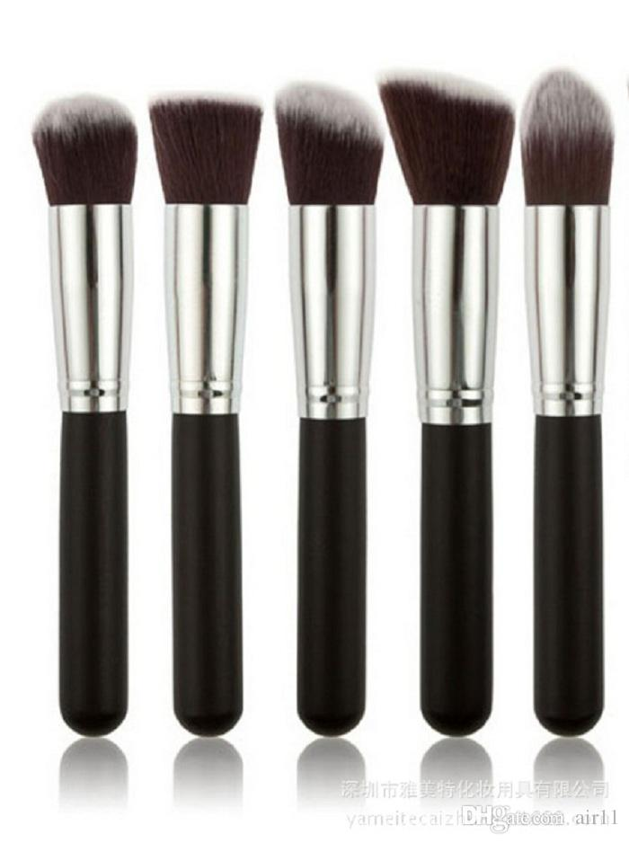 Profesional Powder Blush Brush Facial Care Facial Beauty Cosmetic Stipple Foundation Brush Maquillaje Herramienta 5 unids / set en stock