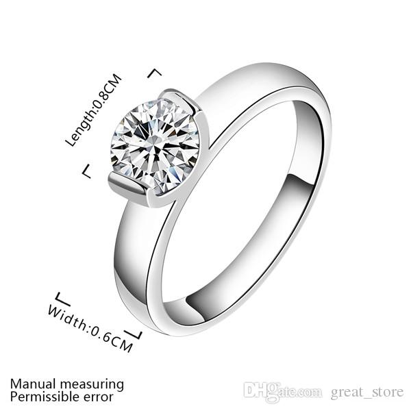 925 Silberring Glossy Diamant Ring GSSR603 Fabrik Direct Sale Sale Brand New Fashion Sterling Silber Fingerring