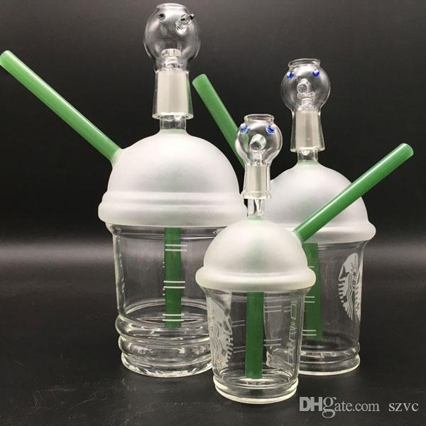 Starbuck Cup glass bong beaker base glass water pipes oil rigs honey bucket thick glass pipes for smoking bubbler water pipe in hookahs