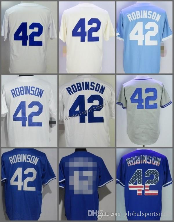 2018 2018  42 Jackie Robinson Cool Base Home Away Baseball Jersey Light Blue  White Grey Cool Base Stitched Jerseys From Globalsportsmall 932cf36d0fc