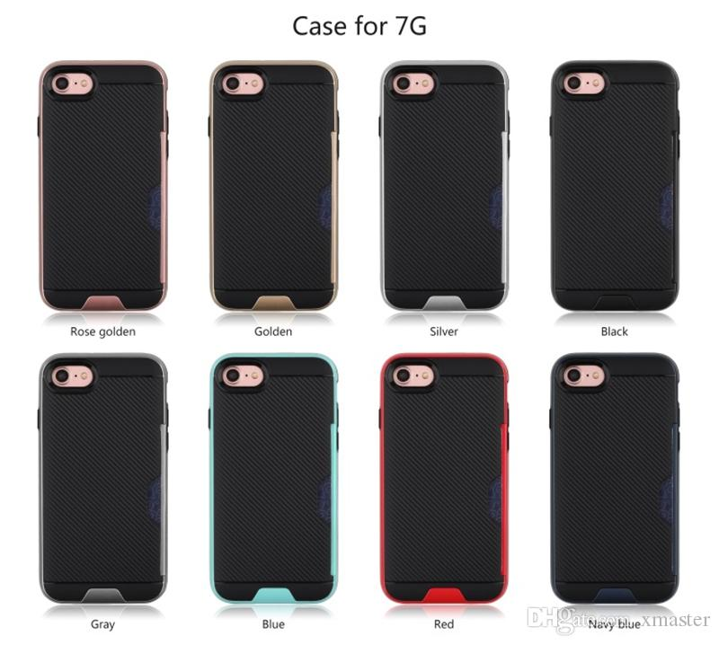 для iPhone Х 8 7 7Plus2 в 1 кредитной карты слот дизайн чехол рассеивать тепло для Samsung S8plus С7 С8 S7plus ЛГ Г6
