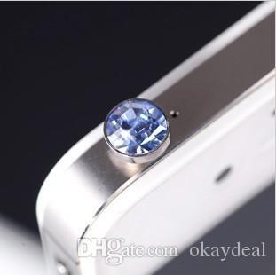 Comercio al por mayor 300 Unids / lote Accesorios de Teléfono de lujo Pequeño Diamante Rhinestone 3.5mm Plug de Auriculares Enchufe Del Auricular Para el Teléfono Móvil