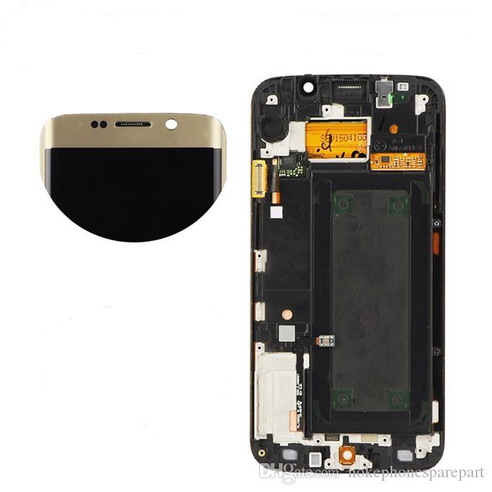 Gold for Samsung Galaxy S6 Edge G925F LCD Display With Touch Screen Digitizer+Frame