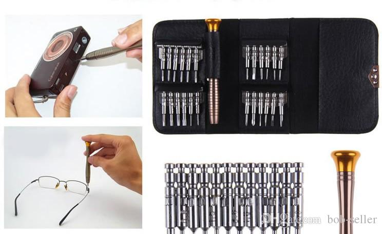 Screwdriver 25 in 1 Repair Tools Set For iPhone samsung cordless screwdriver for phone camera precision triangle screwdrivers