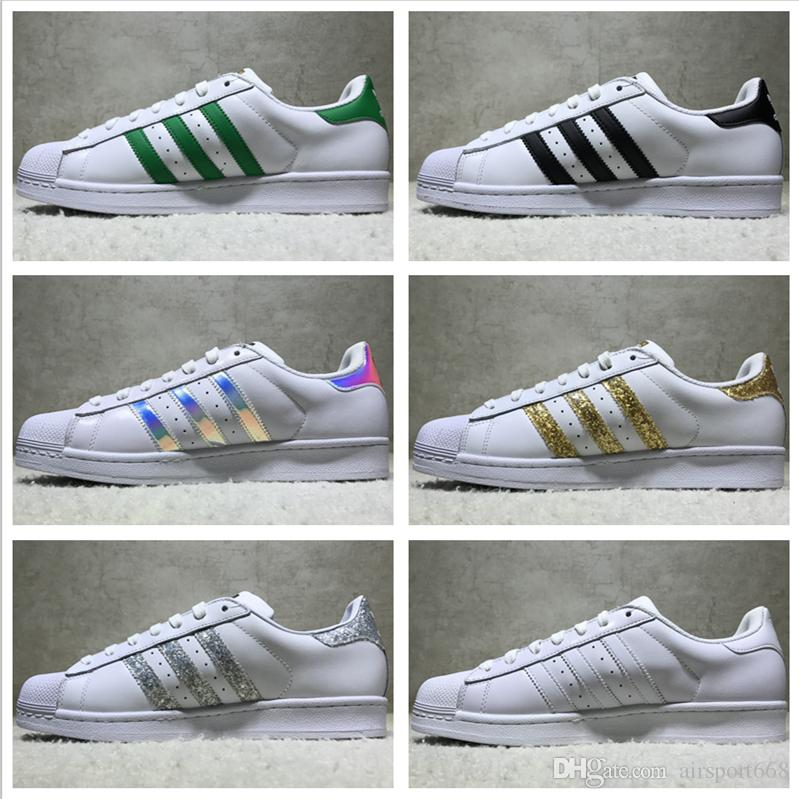 Adidas Originals Superstar White Hologram Iridescent Junior Superstars  Sneakers Super Star Women Men Sport Running Shoes EUR36-45 Basketball Shoes  Running ...