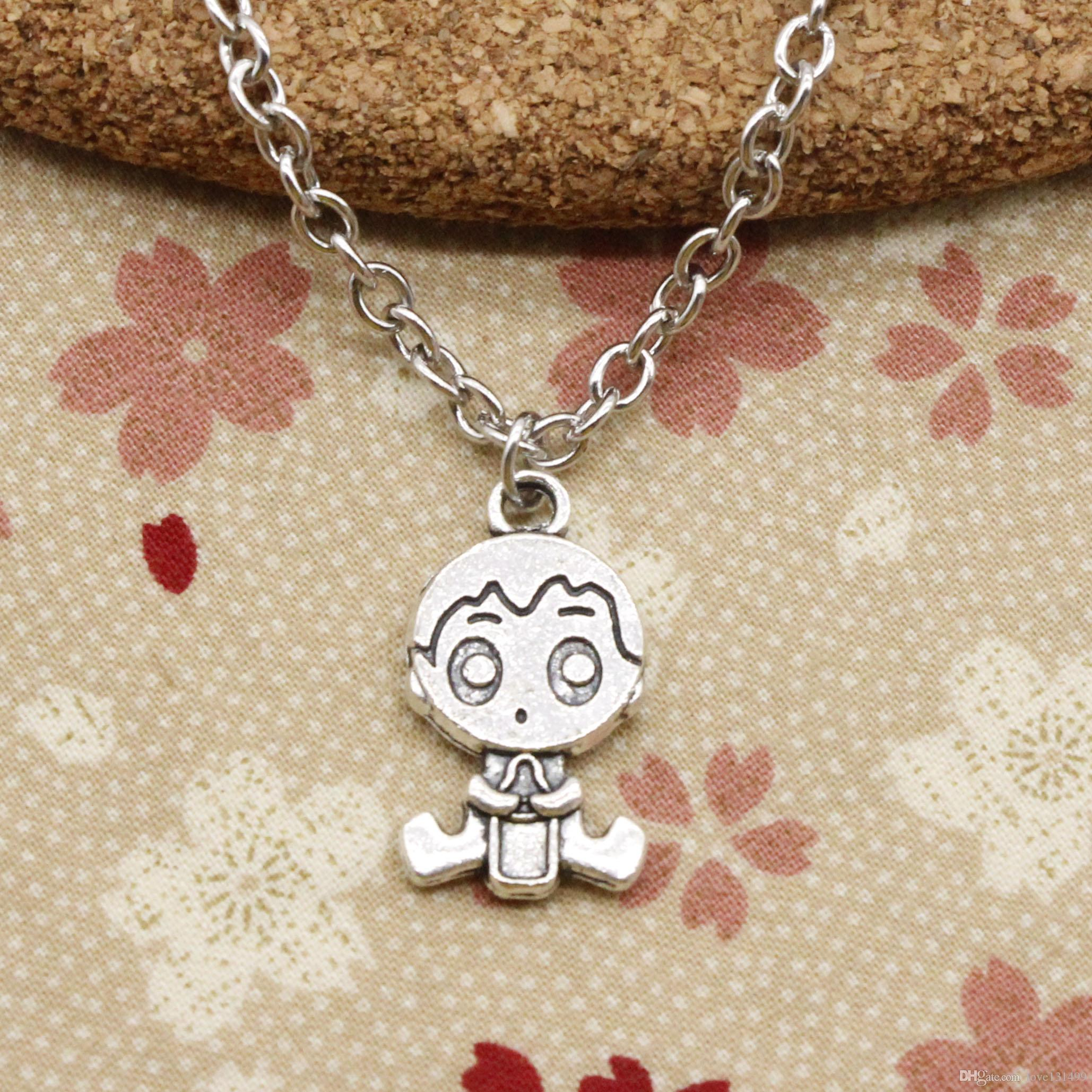 plated spinningdaisy play products boy necklace face open silver bunny