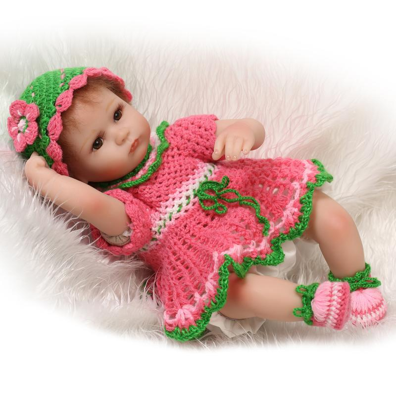 18inch Silicone Baby Reborn Dolls With Cotton Body Dressed In Nice ...