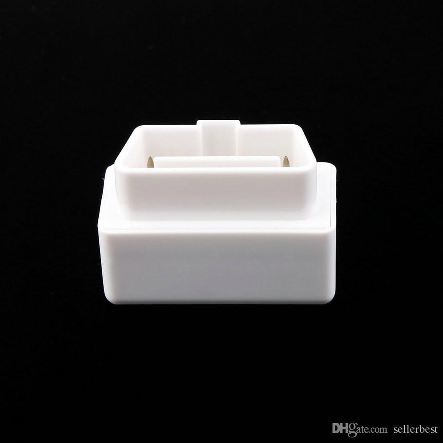 Blanco L V2.1 Auto Auto Interface Escáner Mini ELM327 OBD2 II Bluetooth Herramienta de diagnóstico Teléfonos Herramienta de escaneo inteligente Compatible con todos los protocolos OBDII