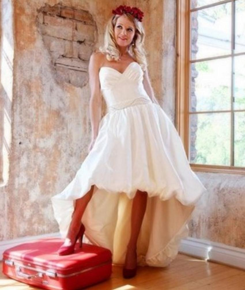 Discount Short Front Long Back Vintage Wedding Dresses