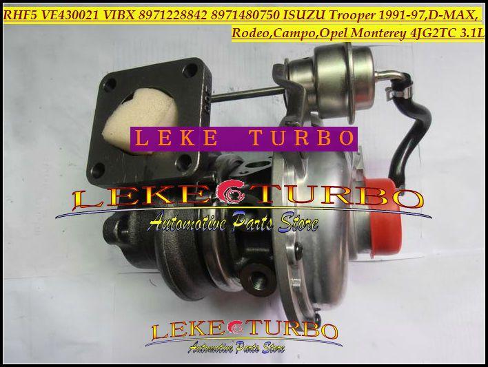 RHF5 VE430021 VIBX 8971228842 8971480750 ISUZU Trooper 1991-97,D-MAX,Rodeo,Campo,OPEL Monterey 4JG2TC 3.1L turbocharger (4)