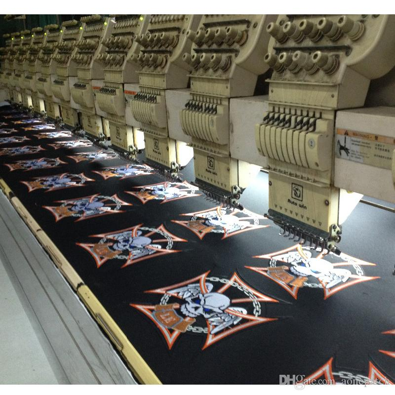 professional computer embroidery patch promotion hot cut Iron on garment & bag accept customised patch